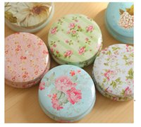 Wholesale New flower tin box home new Lovely dessert tin box Caddy jewelry box