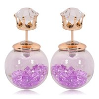 Wholesale The crown of with glass balls inside the particles of EH00750 Diamond Earrings