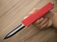 best bowie knives - Bowie knife Microtech A16 Red handle Drop point double fine edge outdoor gear collection popular knife best gift B536L