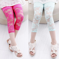 childrens leggings - Lace Pant New Arrival Fashion Childrens Girls Summer Lace Leggings Half Leggings Half Pant Lace Hollow Out Summer Leggings