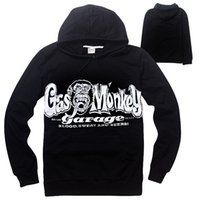 Wholesale Gas Monkey Garage Clothes New Autumn XXXL Hoodies Men Long Sleeve Black Sweatshirt Men Hip Hop Jacket