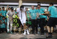 Wholesale Lewis Hamilton lapel short sleeved clothes F1 Formula One sports Hit the color clothes Sebastian Vettel