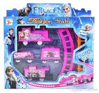 Wholesale Frozen Hot electric rail car toys DIY children s Educational Model Toys Factory Direct k088