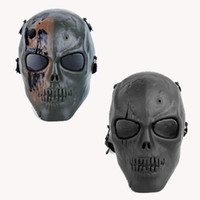 Wholesale Halloween Party Skeleton Warrior half face protective mask horror Stage props mask skull mask CS Army fans