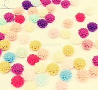 Wholesale 350pcs CLEARANCE SALE mm Mixed Resin Flower Cabochon Chrysanthemum mum Flower flatback Cabochon decoden