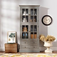 Wholesale Odd ranks yield US wood furniture French country Bock season four glass gray four drawers sideboard