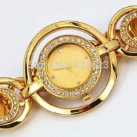 Wholesale luxury brand watches with diamond casual women golden watches quartz watch ladies bracelet wristwatch stainless steel watch