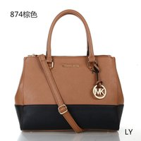 Wholesale 2015 new style messenger bag Totes bags new women handbag PU leather bag shoulder bag Casual bags Two tone smiley style handbags