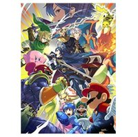 Wholesale 2014 New Super Smash Bros Home Decoration Movie Poster Custom Fashion Classic x75CM Wall Sticker KO