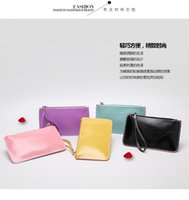 Wholesale 10PCS New ArrivaL Fashion Lady Candy Color Wristlet Wallet Purse Leather Credit Card Tote For Women GWY818