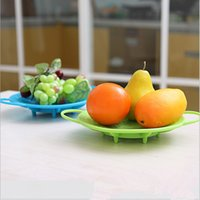 Wholesale Round Dish Cooking Non Slip Cooker Food Steamer Vegetable Silicone Food Steamer Kitchen accessories Heatproof Plate PA677941
