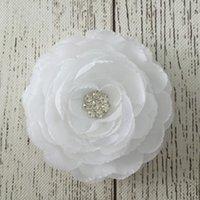Hair Clips hair clipper accessories - New Arrival Rosette Swarovski Crystal Center Silk Ranunculus Flowers Sparkle Accessories Hair Clippers Hot Selling