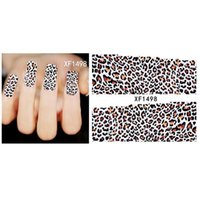 Wholesale New Fashion Water Transfer Dark Leopard Decal Women Stickers Nail Art Acrylic Manicure Tips DIY Decoration Sell