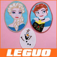 cotton fabric cloth - Hot Sale Exquisite Embroidery Fabric Sticker Cross Frozen Cotton Cloth Paste Patches DHL