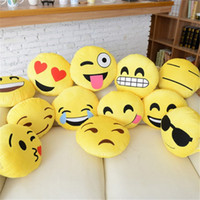 Wholesale QQ Cute Expression doll Sofa Plush PP Cotton Heart Pillow Toys Heart Big Pillow fashion Cervical Health Pillow Gifts Presents cm A4937