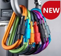 aluminum saws - D shape Mountaineering buckle Saw Paracord Aluminum alloy cm Lock Carabiner colors Can Withstand kg