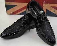 Men new style man dress shoes - 2015 NEW HOT style Men s wedding shoes Mens black leather shoes Unique men casual shoes ENPX56