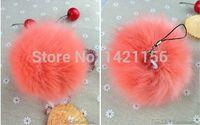 artifical fur - pink artifical fur pom poms D8 for beanies hats iphone key bags cap fake fur pompoms DIY faux fur balls