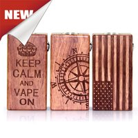 american flag kits - 2016 American Flag Wood Box Vape Mod Battery E cig Mech Vapor Kit vs American Muscle V2 Sigelei Box Vaporizer Dhl Ship