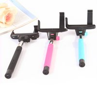 Wholesale Z07 Selfie Stick MONOPOD Extendable Telescopic Holder Built in Bluetooth Shutter for smart cellphone