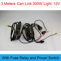 Wholesale 3 Meters Off Road ATV Jeep LED Light Bar Amp Relay ON OFF Switch One Tows