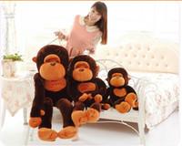 monkey - 2015 Lovely Giant Big Soft Stuffed Plush Monkey Huge Children Boys Girls Student Stuff Plush Animals Toys Orangutan Toy cm m m D3809