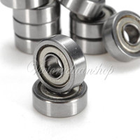 Wholesale 10pcs x12x5mm Shielded Miniature Metal Sealed Metric Radial Ball Bearing ZZ