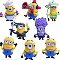 best computer desk - 2014 Hot Set Despicable Me Minions Figure Toy Cartoon Best Toys For Kids Best Decorations For Auto Computer Desk Christmas Gifts