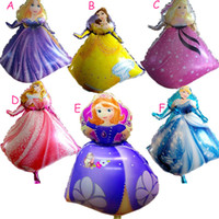 balloon decoration kits - one piece designs for choose New magic Princess Birthday party decoration kits cartoon balloons children kids toys