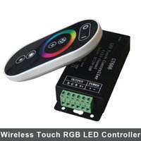 rgb led panel - DC V A RGB RF Led Touch Remote Controller Led Strip iron Controller GT666 Wireless RF Panel Dimmer RGB Strip Light