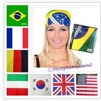 band nation - 2015 World Nation Flag Hiphop Hijabs Headband Bandana Scarf Confederate Rebel Flag Rebel Flag Headband Bandanas cm headband A00255