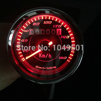 Wholesale waterproof vintage V motocycle LED odometer speed meter motorcycle refires Instrument red LED light