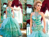 Cheap Reference Images Crystal Evening Dresses Best Halter Organza Ball Gown Evening