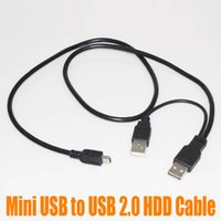 Wholesale 75CM Micro Mini USB Male to Dual Micro USB HDD Cable Power Extension Y Cable For Hard Drive HDD PC Laptop in Cable