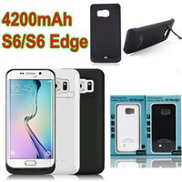 Wholesale Rechargeable mah Backup emergency External Charger Battery Case with Stand holder Power bank For Samsung Galaxy S6 G9200 S6 edge G9250
