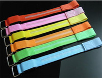 Wholesale 500pcs LED Safety Reflective Belt Strap Arm Band Shine Armband