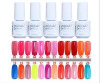 Wholesale 24PCS Top Quality Nail Polish Soak Off Gel Polish Gelish Nail Art UV Gel Long Lasting UV Gel Color ml