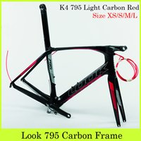bicycle frame parts - Full Carbon Fiber Road Bike Frameset Look K4 Light Carbon Red Cycling Parts Glossy Matte Bicycle Frame With Stem mm