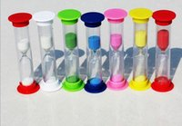 Wholesale 2015 hot Minutes Suction Cap Shower Sand Timer brushing sand timer color safe children s time to play with sand