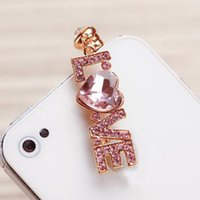 Wholesale Valentine s Day Gift For Love Girls Charming Letter LOVE Phone Dust Plug For Lover SP040