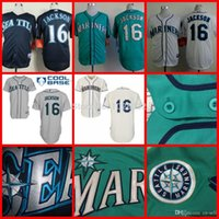 austin embroidery - 2015 New Hot Sale Seattle Mariners Jersey Austin Jackson Cool Base Baseball Jersey White Green Gray Blue Embroidery Top Quality M XL