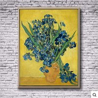 abstract impressionism - Hand Painted Canvas Oil Painting Art High Copy Van Gogh Painting Irises Abstract Art Family Decorates A Wall Of Impressionism