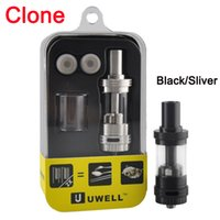 Single Black Metal Clone UWELL CROWN Sub Ohm Tank Temperature control Duall coils 0.2ohm 0.5ohm VS Arctic Herakles Zephyrus Starre TFV4 Trion atomizer RDA