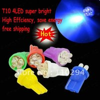 T10 Reading Light The near light Wholesale 20pcs T10 4 smd 4LED Interior Lights Led Lamp Car Light Bulbs Auto Side Bulb Mini Flashlight Lamp 4 Led