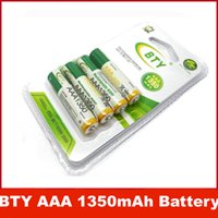 Wholesale BTY V mAh Rechargeable AAA Battery x NI MH Rechargeable Battery