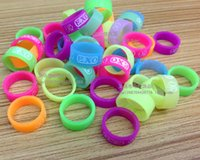 Cheap 6 styles 2014 Hot sale EXO rings EXO fluorescent Silicone rings silicone rings Classic big bang Luminous rings 10pcs set LJJD553 2000sets