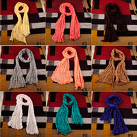 Wholesale Fashion Spain Scarf Women Colorful Cotton And Linen Fold Long Shawl Scarves Loop Infinity Scarves