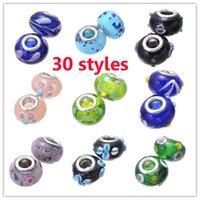 Cheap large hole lampwork beads Best pandora charms
