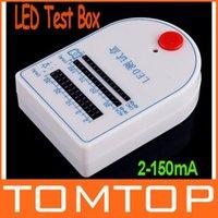 Wholesale 5pcs Mini LED Tester Test Box mA V Battery freeshipping dropshipping