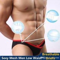 sexy pants for men - 2015 Brand New Mens Mesh Underwear Low Wasit Triangle Briefs Sexy Pants for Men Boys Gay pieces